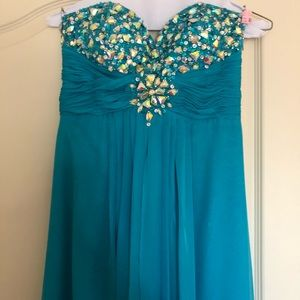 Tiffany Designs Turquoise Gown